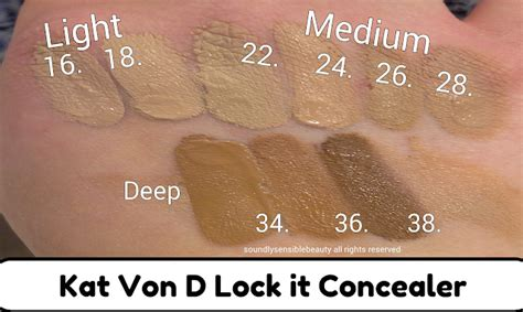 kat von d lock it concealer review amp swatches of shades