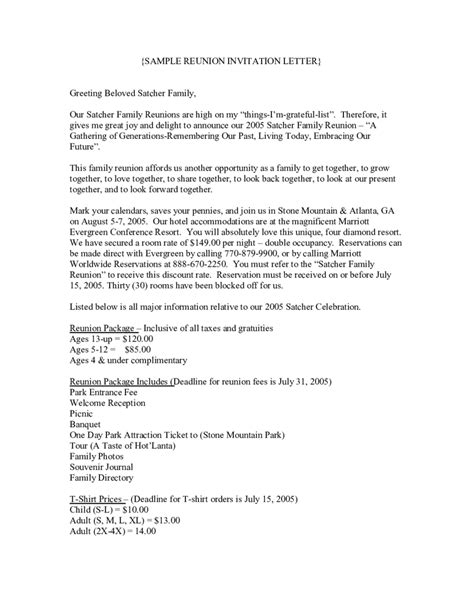 Family Reunion Invitation Letter Template Yourweek 119a24eca25e Family Letter Template