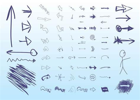 hand drawn vector tutorial hand drawn arrows vector art graphics freevector com