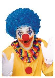 clown colors blue afro clown wig