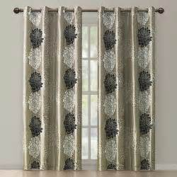Black Gold Curtains Atwood Gold Black Modern Floral Grommet Curtain Panel Contemporary Curtains