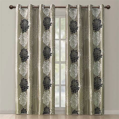 contemporary curtains atwood gold black modern floral grommet curtain panel