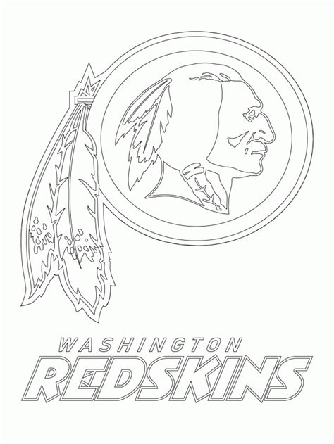 Redskins Coloring Page redskins coloring pages coloring home