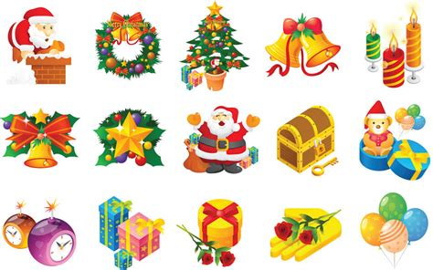 christmas elements for cards vector vector graphics blog