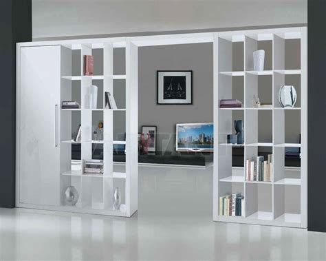 libreria divisoria come organizzare il soggiorno con le librerie divisorie