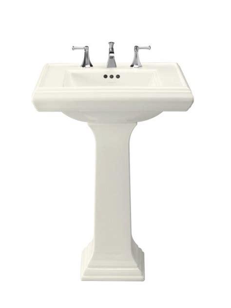 Kohler Square Pedestal Sink Kohler Memoirs Pedestal Sink Square Design Bathroom