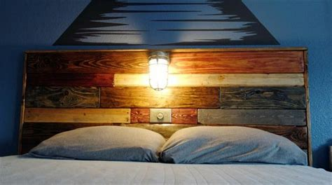 pallet headboard with lights recycled pallet headboard with lights recycled things