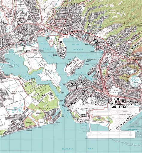 pearl harbor map file pearl harbor topographic map png
