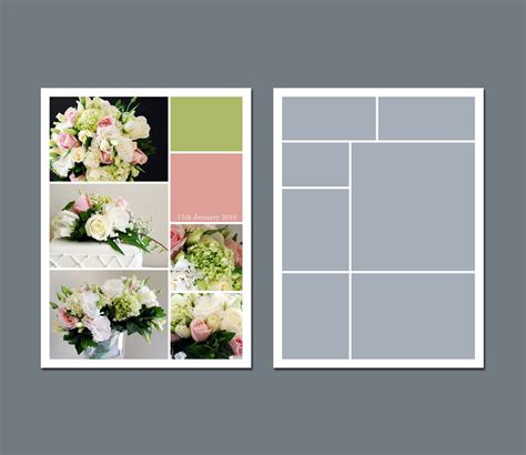collage template instant photo collage template digital template