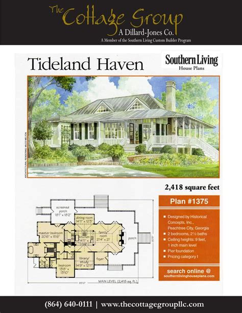 living concepts house plans southern living house plans new tideland haven