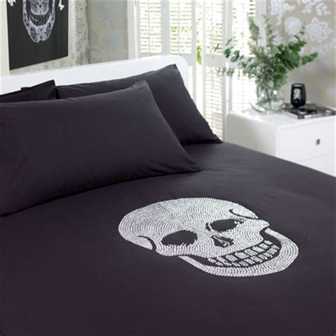 skull bed linen diamante skull bedding set skull decor