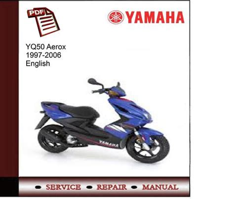 yamaha yq50 aerox 1997 2006 workshop service manual