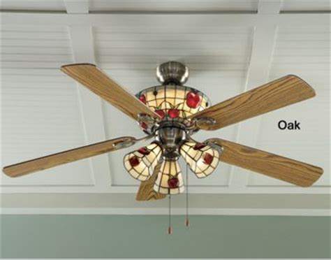 stained glass apple ceiling fan from the tender filet 174 74167