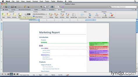 add comments  word documents lyndacom tutorial