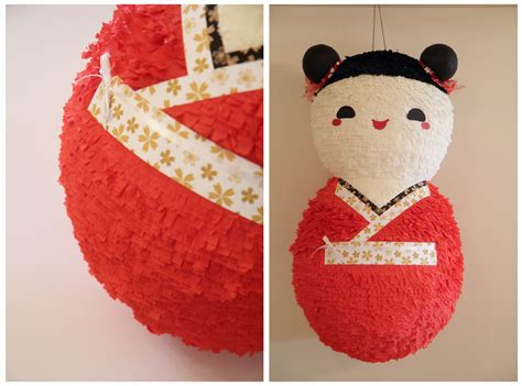 Handmade Pinatas - kokeshi doll pi 241 ata handmade pi 241 atas