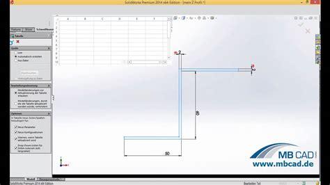 tutorial de solidworks 2014 konfigurierbare schwei 223 konstruktionsprofile mit solidworks