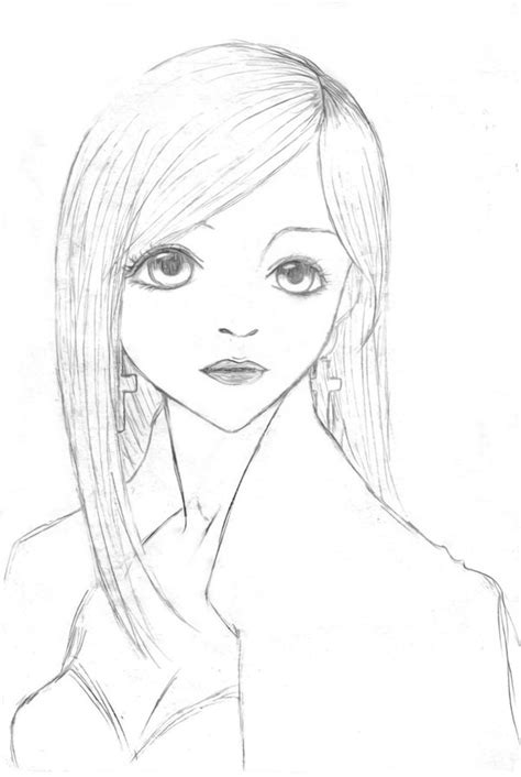 china doll drawing pencil sketches of nature of sceneries landscapes of