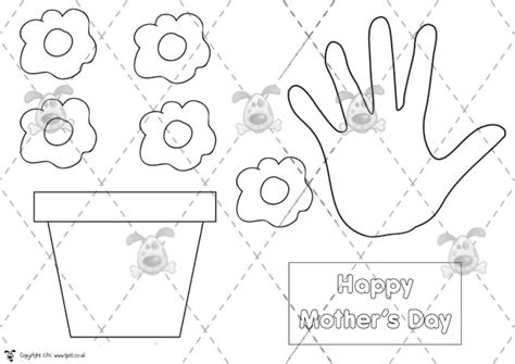 simple mothers day card activities with templates for 6th graders s pet s day plant pot card premium