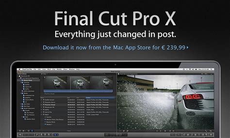 final cut pro rumors disponibile final cut pro x nel mac app store a 239 euro