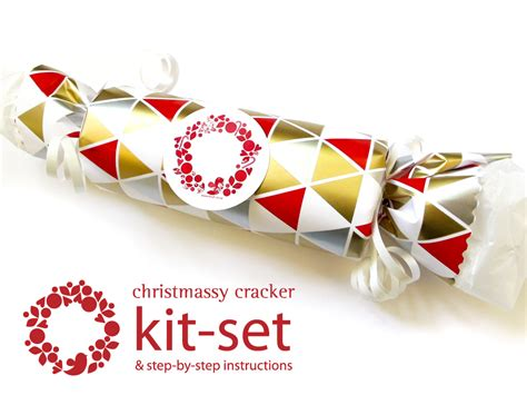 christmas cracker kit set geometric felt