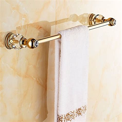 auswind gold white crystal brass bathroom accessories sets wall mounted  pieces gold polished
