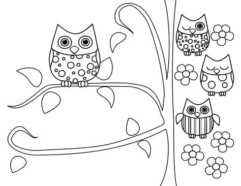 hard girly coloring pages top 20 inspiring and cute owl coloring pages free