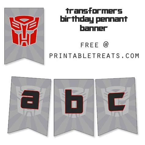 printable transformers birthday banner parties birthdays and party banners on pinterest