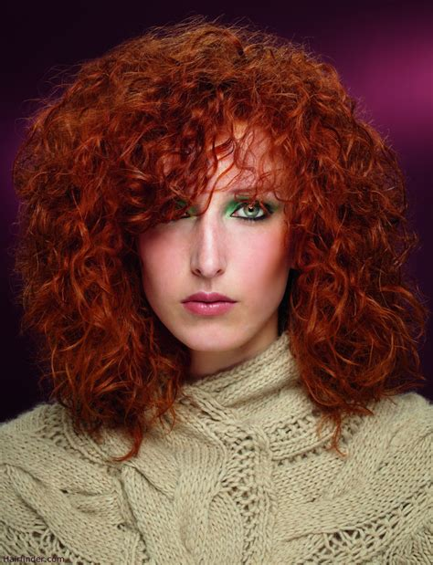medium permed red hairstyles curly medium long copper hair with a perm