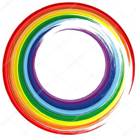 color circle rainbow color circle frame abstract splash paint