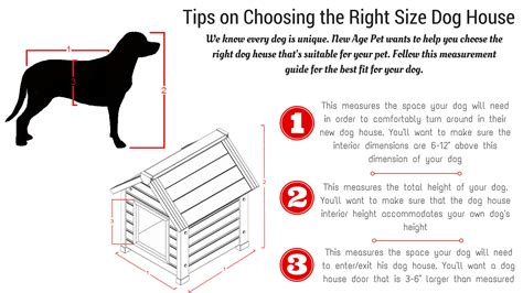 how to size a dog house choosing the right size dog house new age pet the