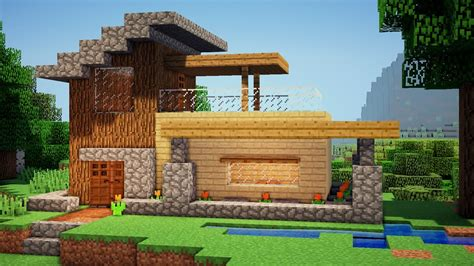 how to build a wood house minecraft easy wooden house tutorial how to build a