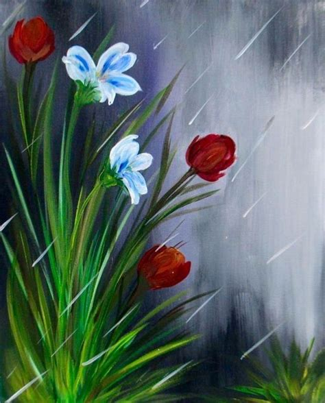 flowers in the an easy painting for friends to paint