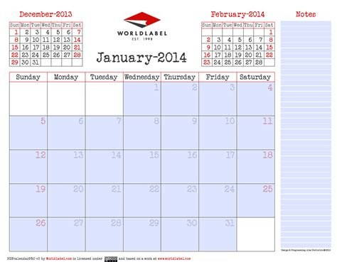 fillable calendar template 2014 blank 2014 editable fillable pdf calendar pro worldlabel
