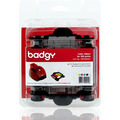 Badgy Ribbon Evolis Vbdg204 Eu Badgy Color Ymcko Ribbon For 100 Prints Vbdg204eu