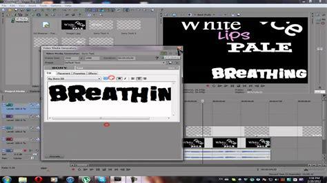 tutorial sony vegas pro 10 youtube typography simple tutorial sony vegas pro 10 0 youtube