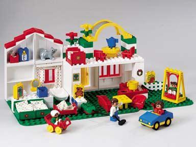 huis bouwen van duplo rood wit duplo huis