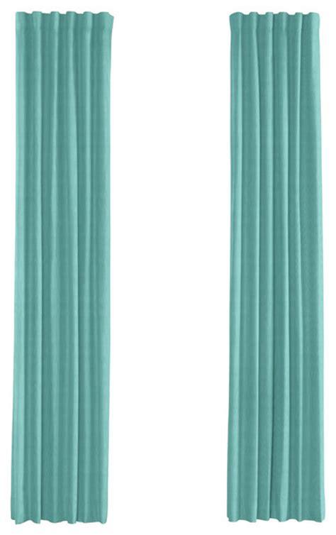 aqua drapery panels bright aqua faux linen custom drapery single panel
