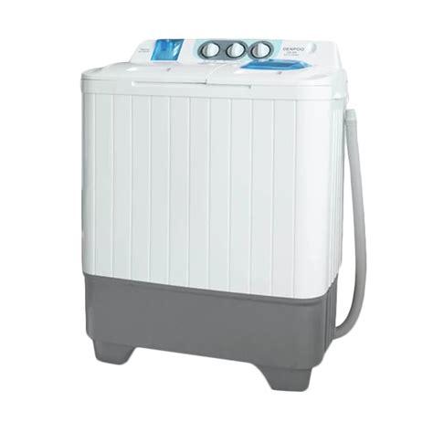 Mesin Cuci Denpoo 2 Tabung 7 Kg jual denpoo dw 898 mesin cuci 2 tabung 7kg putih