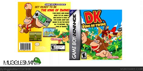 dk king of swing gba dk king of swing game boy advance box art cover by
