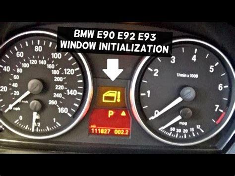 resetting window bmw bmw window not working how to initialize window