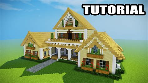 build a mansion minecraft how to build a mansion tutorial epic house