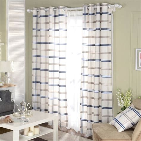 american country style living room bedroom linen cotton online buy wholesale curtains plaid from china curtains