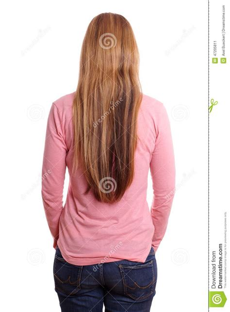 short hairstyles as seen from behind woman from behind stock photo image 47205811