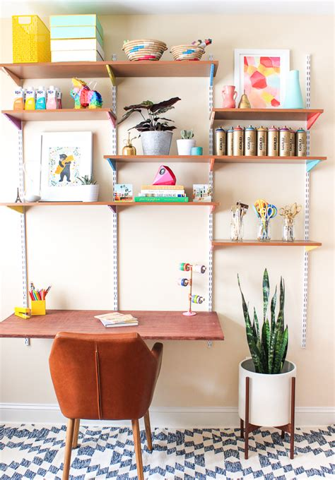 office wall desk pinned it made it loved it diy mounted wall desk the