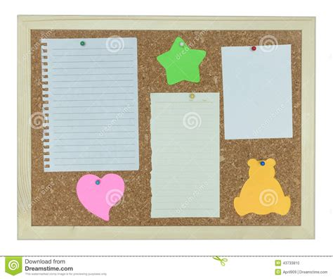 How To Make A Board With Paper - cork notice board with stick note paper pin stock photo