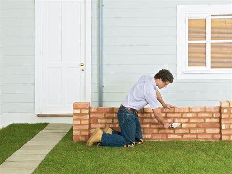 how to make a garden wall how to build a brick garden wall how tos diy