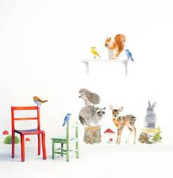 Animals Wall Stickers Forest Animals Wall Stickers Woodland Animals Set By