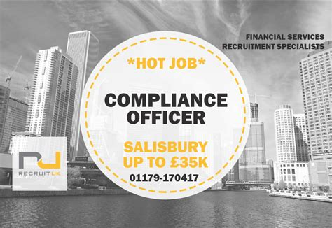how to become a compliance officer at a bank compliance officer salisbury recruit uk ltd