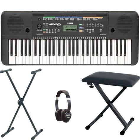 Keyboard Yamaha E253 yamaha psr e253 portable keyboard bundle with included accessories