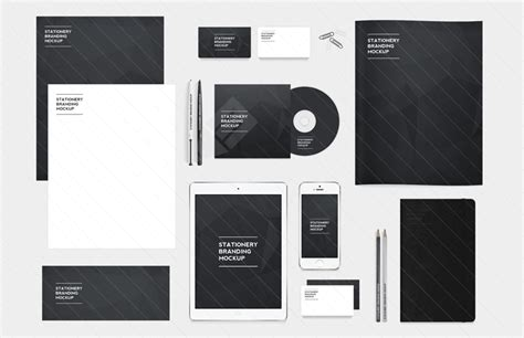 branding templates 30 recognizable free psd stationery mockups free psd